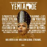 Yemi Alade's 'Woman of Steel' Up for Grammy consideration