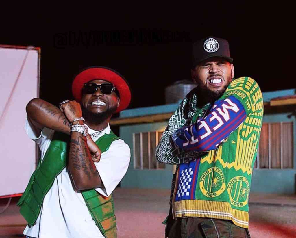 Davido & Chris Brown Perform Together For The 3rd Time, Make Fans Go Crazy In Atlanta, US || Watch Video Image