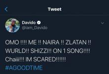 Davido Scared As He Collaborates With Naira Marley, Zlatan, Wurld & Shizi