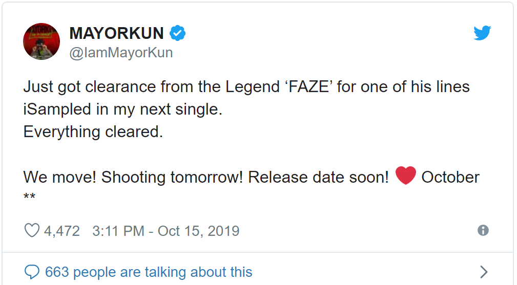 Mayorkun Set To Drop New Music After Getting Clearance From Music Veteran, Faze Image