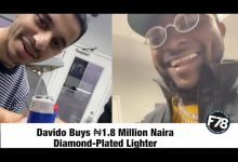 Davido Acquires A 1.8 Million Diamond Plated Lighter