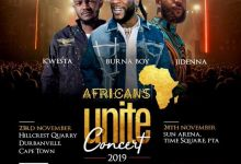 """Burna Boy Confirms """"Africans Unite"""" South African Show"""
