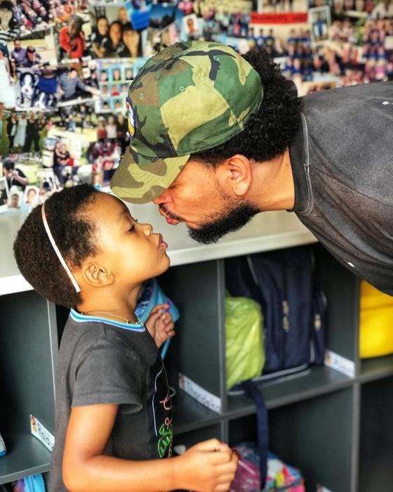 AKA Takes Daughter, Kairo To School On Resumption Day