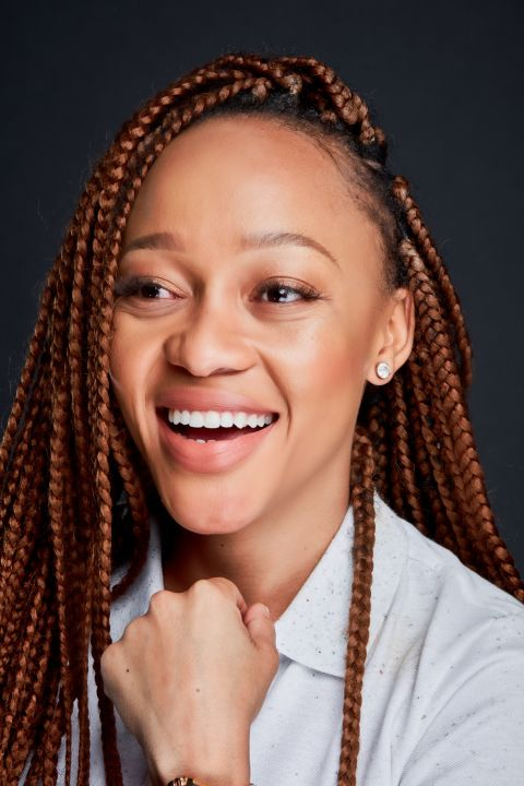 Thando Thabethe Does the #SAPSChallenge And We Can't Stop Laughing!