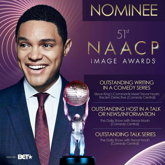 Trevor Noah Bags 3 Image Awards Nomination At 2020 NAACP.