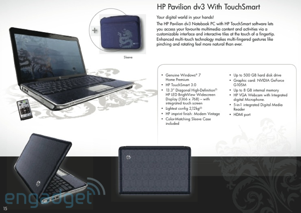 Pavilion dv3 Netbook Info And More Leaked By HP