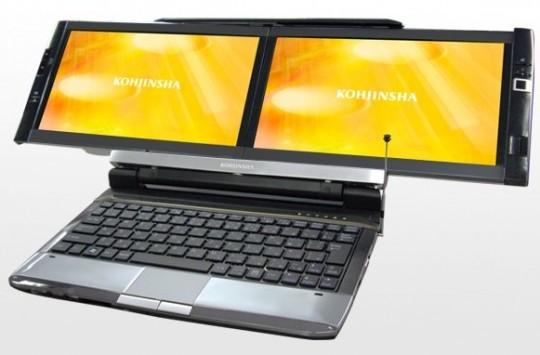 More on the Kohjinsha DZ Dual-Screen Netbook