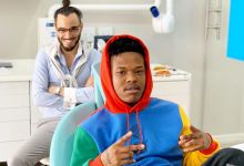 Photo of Nasty C shares photo of dental appointment with Dr Smile
