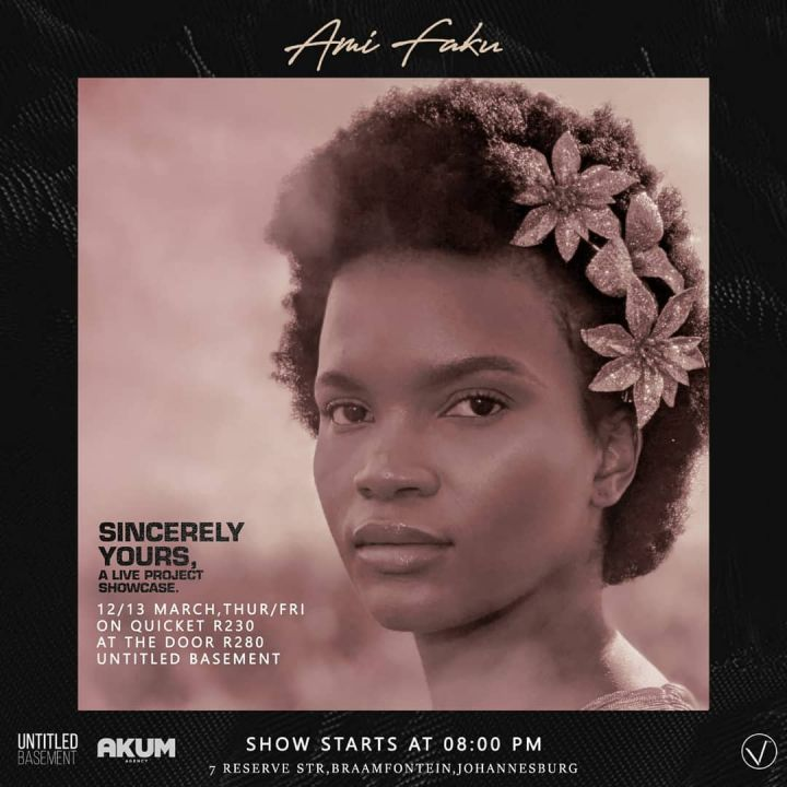 """Ami Faku To Showcase """"Sincerely Yours"""" Album Live In March Image"""