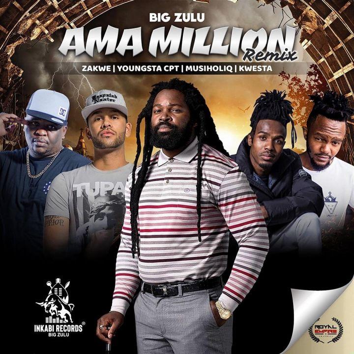 Big Zulu Shoots AmaMillion Remix Video Feat. Musiholiq, YoungstaCpt, Kwesta, Zakwe Image