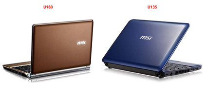 MSI To Show Off Wind & U160 Netbooks At CES 2010