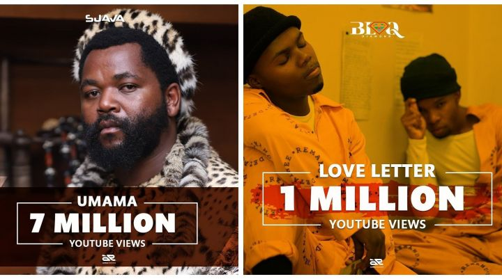 Sjava's Umama Hits 7M While Blaq Diamond's Love Letter Hits 1M Views on YouTube Image