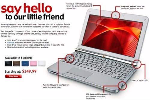 Get Your Toshiba NB205 Netbook Now!