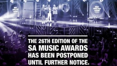 Photo of 2020 SA Music Awards postponed until further notice