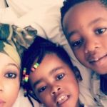 Kelly Khumalo Keeps Her Kids Busy By Getting Them To Sanitise Their Toys