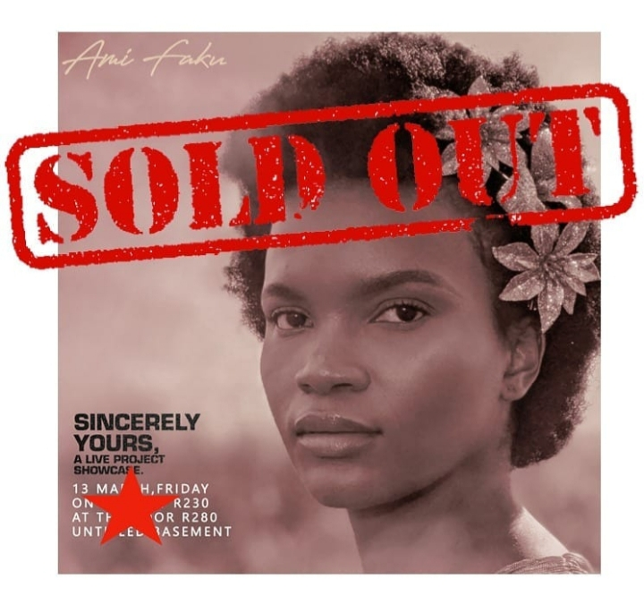 """Friday Tickets For Ami Faku's """"Sincerely Yours"""" Live Showcase Are Sold Out"""