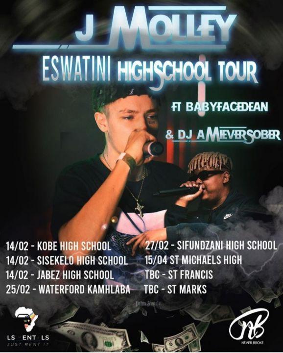J Molley & Babyface Dean Announce A Swaziland High School Tour Image