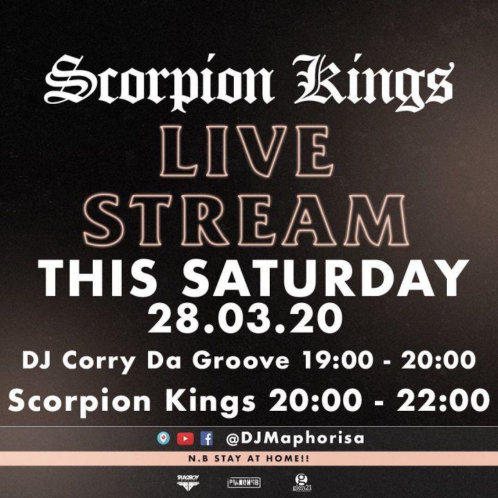 Live Stream Scorpion Kings, Dj Maphorisa, Kabza De Small Lockdown Party Today