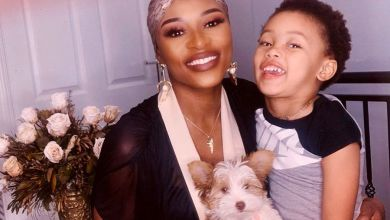 DJ Zinhle Is Stunning At Home With Daughter, Kairo Forbes, And Puppy, Kleo