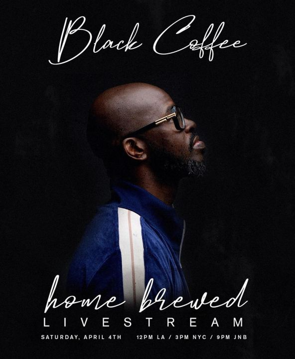 #WeAreOne, Black Coffee To Hold Another Home Brewed Live Stream Session For Solidarity Fundraising