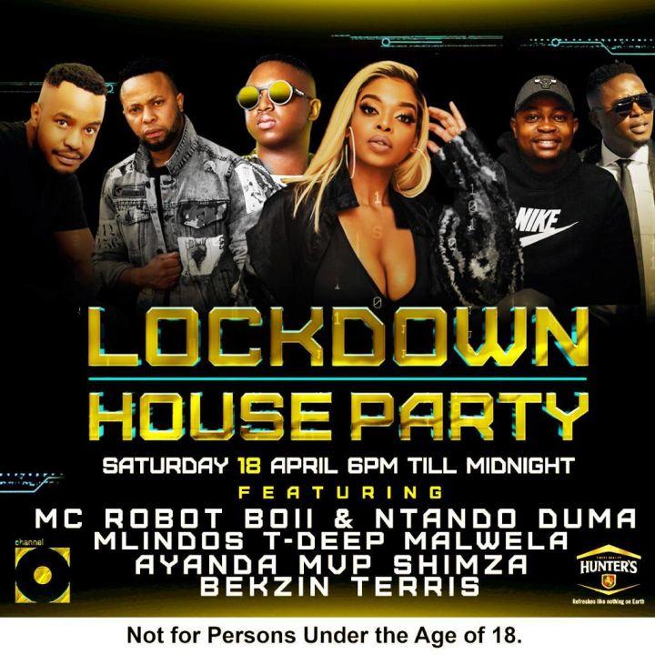 Mlindos, Shimza, T-Deep, Malwela, Ayanda MVP & Bekzin Terris Rocked It Lat Night @ The Lockdown House Party Mix On Channel O