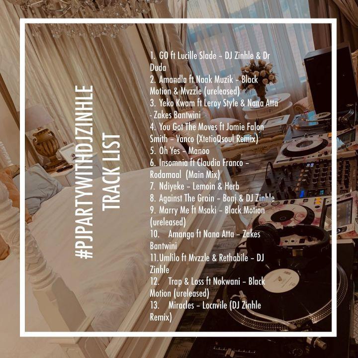 Dj Zinhle's PJ Party Mix Was A Success, Watch Image