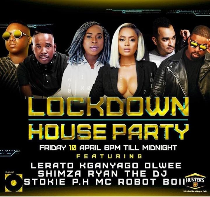 Lerato Kganyago, Shimza, Olwee, Ryan The DJ, DJ Stokie & PH Are Next On This Friday Lockdown House Party