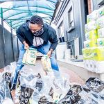 Shimza Goes Back Home to Hand out Food Parcels to 200 Families
