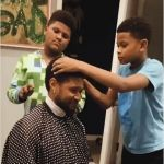 Watch Usher Kids Fix Him Up With A Haircut