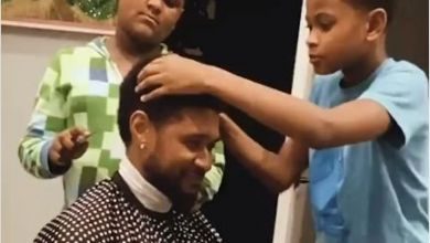 Watch Usher Kids Fix Him Up With A Haircut Image
