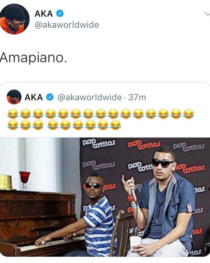 AKA Mocks Cassper Nyovest, Address Him As Amapiano Artist Image