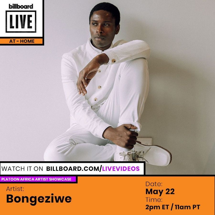 "Bongeziwe Mabandla To Appear On The Billboard Virtual Live Concert ""AT-HOME"" Image"
