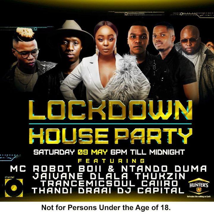 Catch Jaivane, Dlala Thukzin, Transmicsoul, Caiiro, Thandi Draai & DJ Capital For Next Saturday Channel O Lockdown House Party