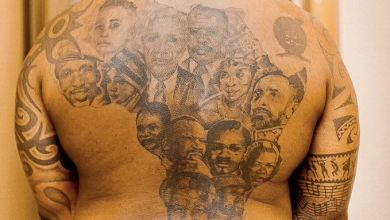 Fans Suggest DJ Fresh Get Robert Mugabe, Julius Malema And Jacob Zuma Added To His African Leaders Tattoo Image