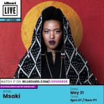 Msaki To Appear On Billboard's AT-HOME Series Alongside Other Talented Artists