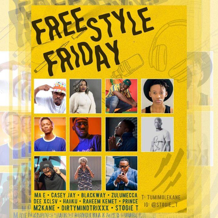 Stogie T – Freestyle Friday Ft. Ma-E, Zulu Mecca, Prince, Casey JaNissa, Haiiiku, Dee Xclsv, Raheem Kemet, M2KaNE, Dirty Mind Trixx, A.L