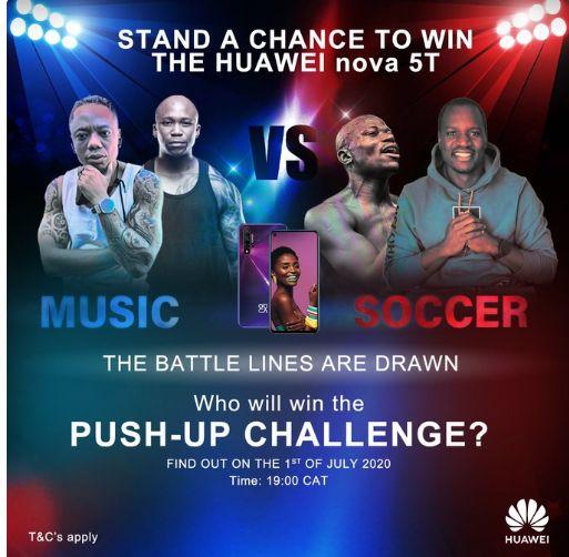 DJ Tira & NaakMusiq To Go Against Denis Onyango And Hlompho kekana For A Push-Up Challenge Image
