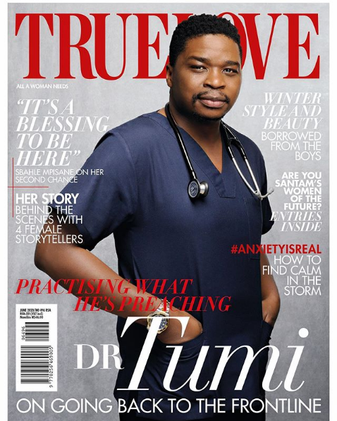 Dr Tumi Covers June Issue Of True Love Magazine