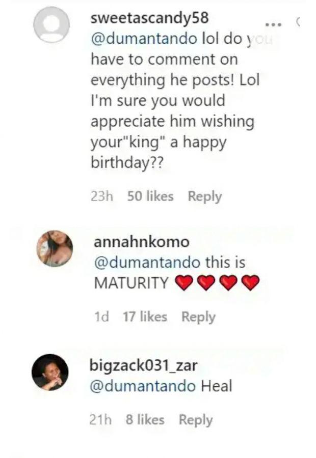 Ntando Duma Celebrates Ex's Girlfriend Image