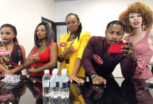 """Photo of Priddy Ugly, Bontle Modiselle & Sisters Glitter on """"Family Feud"""""""