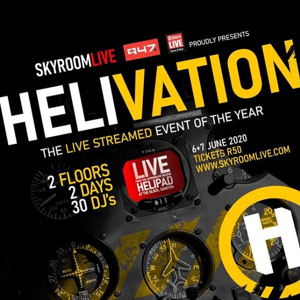 """SkyRoomLive, 947Joburg TimesLIVE """"Helivate"""" Fans with Revolutionary Live Concert"""