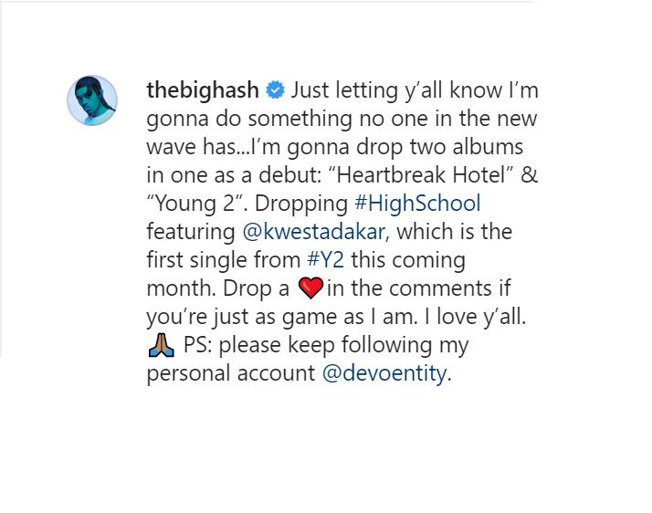 "The Big Hash To Drop ""Heartbreak Hotel"" & ""Young 2"" In One Album Image"