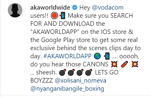 AKA Getting Ready For A Boxing Match With Cassper Nyovest? | Watch Image
