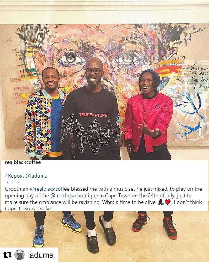 Black Coffee To Play At Laduma Ngxokolo's Maxhosa Cape Town Boutique Opening Image