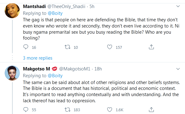 Christians React as Boity Dismisses the Bible as Epitome of Patriarchy Image