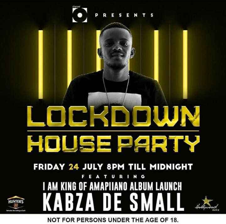 """Kabza De Small To Hold """"I Am the King Of Amapiano"""" Lockdown House Party Mix, Album Launch Edition"""