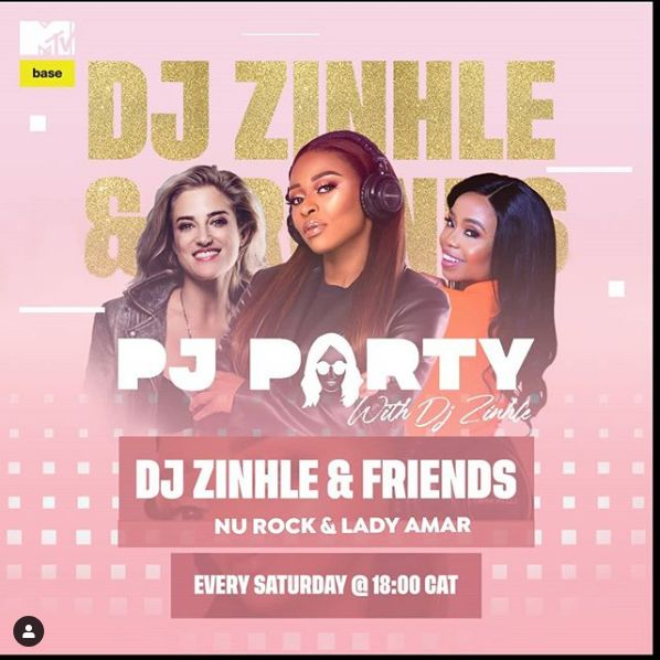 Nu Rock & Lady Amar To Join The PJ Party With DJ Zinhle Today