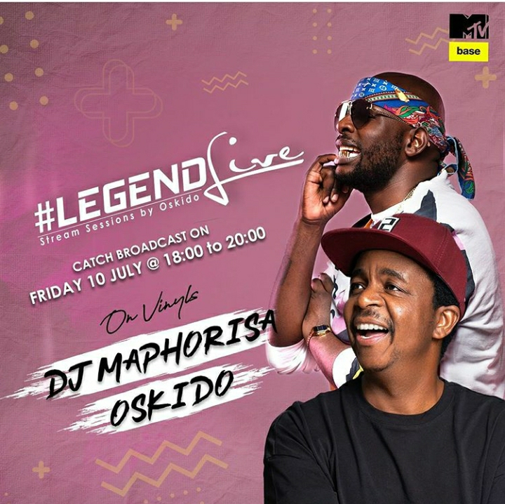 Oskido's Legend Live Goes On MtvBase, To Feature DJ Maphorisa Image