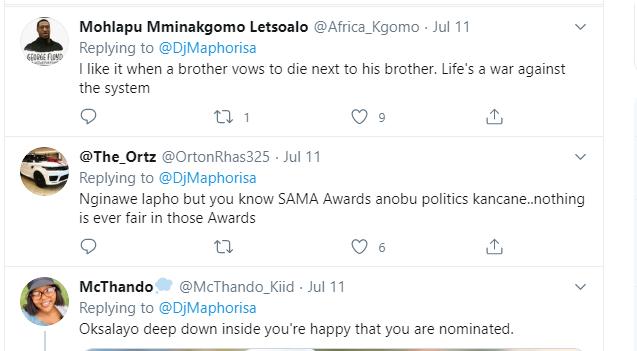 Sha Sha Dragged After DJ Maphorisa's SAMA Nominations Brag Image