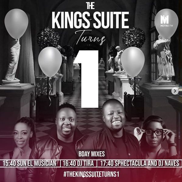 MetroFM's The Kings Suite Turns 1 Today, DJ Tira, Sun-El Musician, Sphectacula & Naves To Celebrate With Birthday Mix